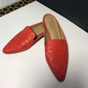 Franco Sarto red leather shoes